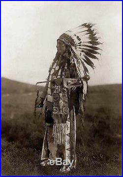 Native American INDIAN HANDMade Vintage Lakota Sioux Talking Stick 25 -Horse