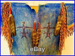 Native American Indian Made Ghost Dance War Shirt Elk buckskin vintage style