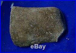 Native American Indian Stone Tool visible man made markings- patina on surface