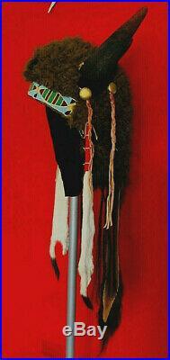 Native American Indian made Large Vintage style Buffalo Headdress War bonnet