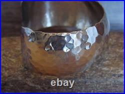 Native American Jewelry Hand Made Hammered Silver Bracelet by Douglas Etsitty