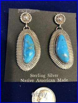 Native American Jewelry. Navajo hand made sterling silver and genuine turquoise