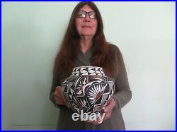Native American Laguna Indian Pueblo Southwest Pottery Bowl Hand Made M Davis