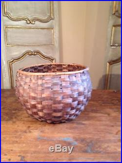 Native American Large Hand Made Basket 12 X 8H