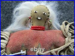 Native American Leather Ghost Dance Doll, Authentic Hand Made & Signed, Sd-03691