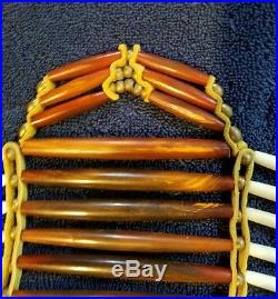 Native American Made Buffalo Bone Hairpipe Breast Plate, Northern Plains Artisan