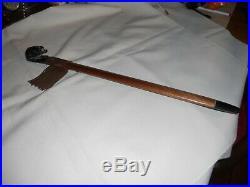 Native American Made/Cherokee Steatite Beaver Effigy Pipe Signed