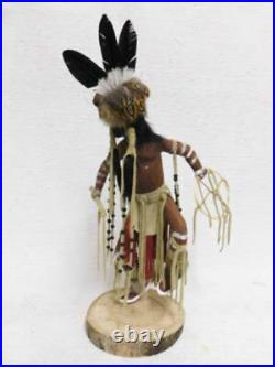 Native American Made Cheyenne Dog Soldier Warrior Katsina Doll by Sammie Walker