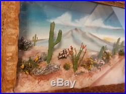 Native American Made Diorama Desert Cactus Scene In Relief 13 Landscape View