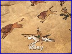 Native American Made Painted Buffalo Robe Traditional Pigment Paint hide skin