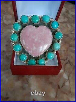 Native American Made Pink Heart Ring 7