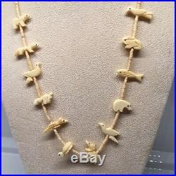 Native American Made Rare Animal Fetish Necklace Single Strand 25