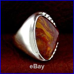 Native American Made Sterling Silver Pietersite Men's Ring Size 10.5 - R40 D u