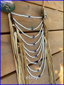 Native American Made breastplate Loop necklace pow wow regalia