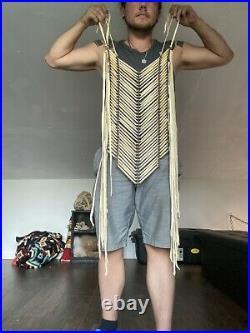 Native American Made breastplate necklace pow wow regalia Bone Breastplate