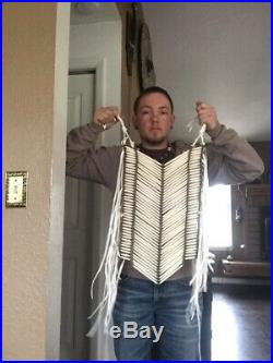 Native American Made buffalo Bone Breastplate necklace pow wow regalia Large