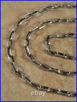 Native American Navajo 24 1/4 Inch Sterling Silver Hand Made Chain