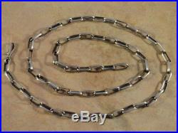 Native American Navajo 24 5/8 Inch Sterling Silver Hand Made Chain
