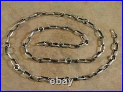 Native American Navajo 24 Inch Sterling Silver Hand Made Chain