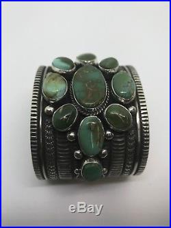 Native American Navajo Hand Made Sterling Silver Royston Turquoise Bracelet