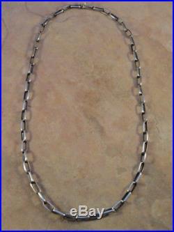 Native American Navajo Heavy 24 Inch Silver Hand Made Chain