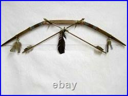 Native American Navajo Made Rawhide Bow and Arrow 44 Inches Long