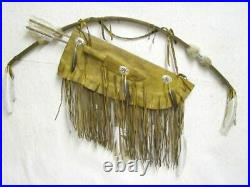 Native American Navajo Made Warrior Bow and Quiver with Knife Cert Authenticity