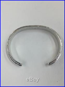Native American Navajo Plain sterling silver hand made cuff bracelet Made