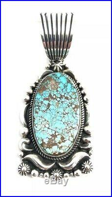 Native American Navajo Sterling Hand Made Royston Turquoise Pendant