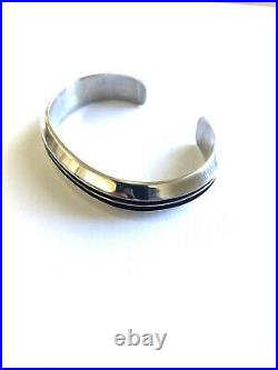 Native American Navajo Sterling Silver Hand Made Cuff Bracelet