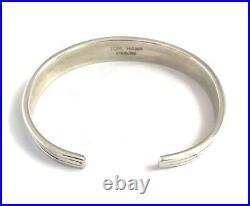 Native American Navajo Sterling Silver Hand Made Cuff Bracelet Tom Hawk