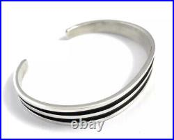 Native American Navajo Sterling Silver Nav Hand Made Cuff Bracelet Tom Hawk