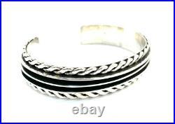 Native American Navajo Sterling Silver Navajo Hand Made Cuff Bracelet