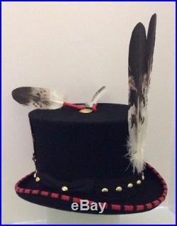 Native American Regalianakoda Madebeaded Top Hat Indian Wars Helmet Eagle Med