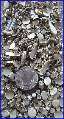 Native American Sterling Silver BENCH BEAD HAND MADE JEWELRY MAKING small bezels