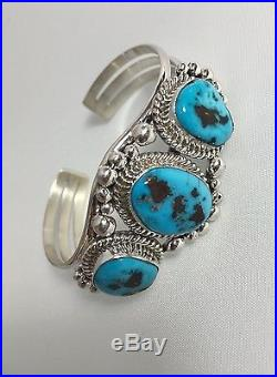 Native American Sterling Silver Hand Made Sleeping Beauty Squash Blossoms Set