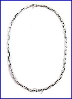 Native American Sterling Silver Navajo Hand Made Old Look Navajo 24 Chain