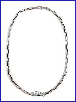Native American Sterling Silver Navajo Hand Made Old Look Navajo Chain