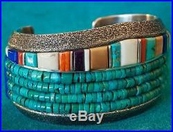 Native American Turquoise Bead Bracelet Charles Loloma Inspired Wes Willie Made
