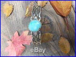 Native American Turquoise Bracelet Made By Navajo Artist Gene Billie