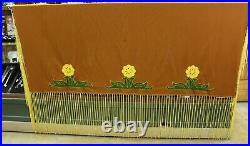 Native American Women's Honey Yellow Flowers Fringe Shawl 60 x 60 Pawnee Made