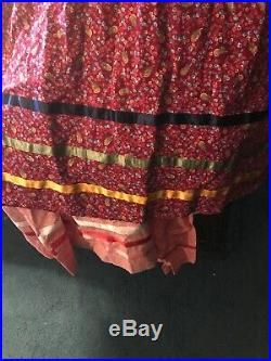 Native American Womens Cherokee Tear Dress Hand Made With Belt And Leggings