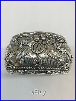 Native American sterling silver navajo hand made Leaf design Cuff Bracelet
