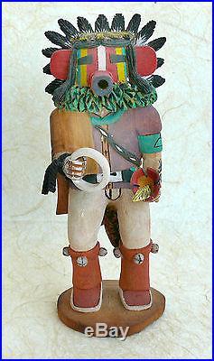 Native Hopi Kachina Doll Sotungtaka made by Alton Pashano