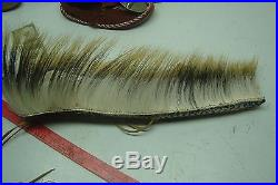 Native american hand made 19 1/2 roach porcupine and deer hair
