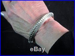 NavajoWYLIE SECATERO Hand MadeHeavy Gauge3/8 Wide 925 Cuff