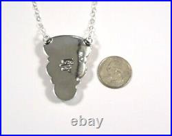 Navajo Made Spiny Oyster, Sleeping Beauty Turquoise Sterling Silver Bar Necklace