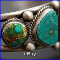 Navajo Mixed TURQUOISE Bracelet Sterling Silver Native American Made in USA s6.5