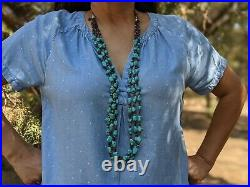 Navajo Necklace, Turquoise Heishi Beads Native American Hand Made Jewelry