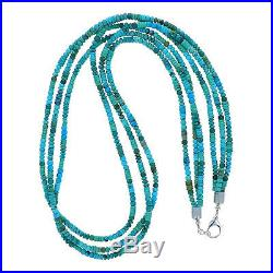 Navajo Turquoise Beads Necklace 3 Str 36 Native American Made